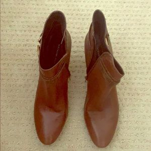 Leather booties with heel barely worn! Sz 8.5